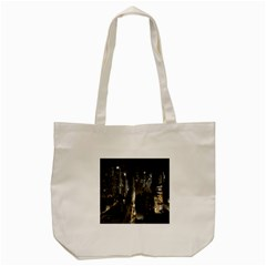 New York United States Of America Night Top View Tote Bag (cream) by Simbadda