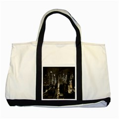 New York United States Of America Night Top View Two Tone Tote Bag by Simbadda