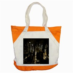 New York United States Of America Night Top View Accent Tote Bag by Simbadda