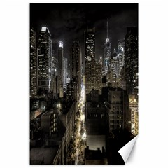 New York United States Of America Night Top View Canvas 24  X 36  by Simbadda