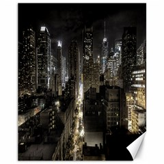 New York United States Of America Night Top View Canvas 11  X 14   by Simbadda