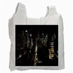 New York United States Of America Night Top View Recycle Bag (two Side)  by Simbadda