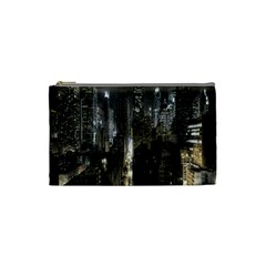 New York United States Of America Night Top View Cosmetic Bag (small)