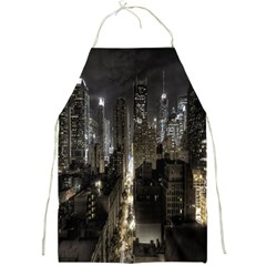 New York United States Of America Night Top View Full Print Aprons by Simbadda