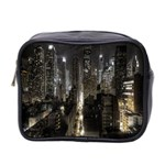 New York United States Of America Night Top View Mini Toiletries Bag 2-Side Front