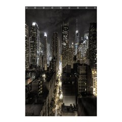 New York United States Of America Night Top View Shower Curtain 48  X 72  (small)  by Simbadda