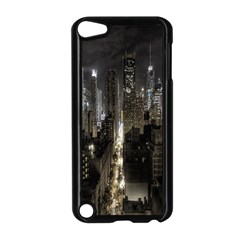 New York United States Of America Night Top View Apple Ipod Touch 5 Case (black) by Simbadda