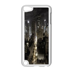 New York United States Of America Night Top View Apple Ipod Touch 5 Case (white) by Simbadda
