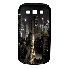 New York United States Of America Night Top View Samsung Galaxy S Iii Classic Hardshell Case (pc+silicone)