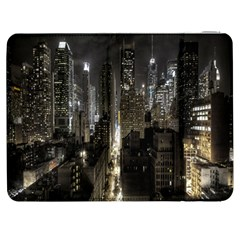 New York United States Of America Night Top View Samsung Galaxy Tab 7  P1000 Flip Case by Simbadda
