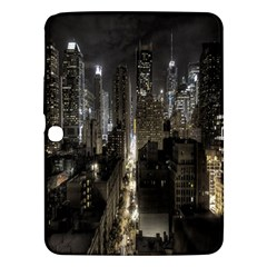 New York United States Of America Night Top View Samsung Galaxy Tab 3 (10 1 ) P5200 Hardshell Case  by Simbadda