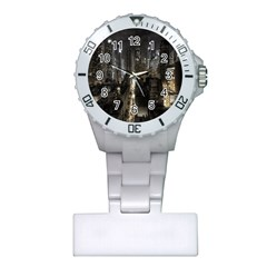 New York United States Of America Night Top View Plastic Nurses Watch by Simbadda