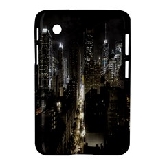 New York United States Of America Night Top View Samsung Galaxy Tab 2 (7 ) P3100 Hardshell Case  by Simbadda