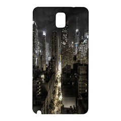 New York United States Of America Night Top View Samsung Galaxy Note 3 N9005 Hardshell Back Case