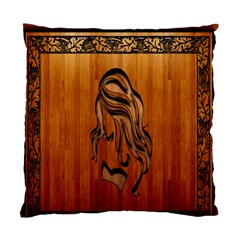 Pattern Shape Wood Background Texture Standard Cushion Case (two Sides) by Simbadda