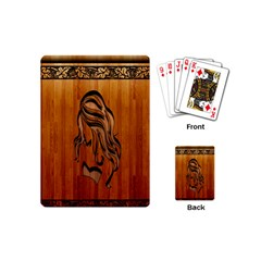 Pattern Shape Wood Background Texture Playing Cards (mini)  by Simbadda
