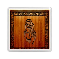 Pattern Shape Wood Background Texture Memory Card Reader (square)