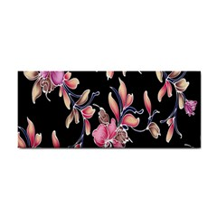 Neon Flowers Black Background Cosmetic Storage Cases by Simbadda