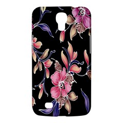 Neon Flowers Black Background Samsung Galaxy Mega 6 3  I9200 Hardshell Case by Simbadda