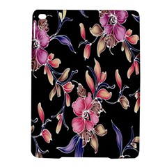 Neon Flowers Black Background Ipad Air 2 Hardshell Cases by Simbadda