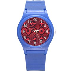 Leather Point Surface Round Plastic Sport Watch (s) by Simbadda