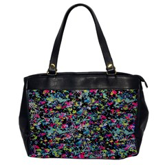 Neon Floral Print Silver Spandex Office Handbags by Simbadda