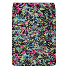 Neon Floral Print Silver Spandex Flap Covers (l)  by Simbadda