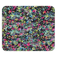 Neon Floral Print Silver Spandex Double Sided Flano Blanket (small)  by Simbadda