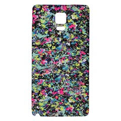 Neon Floral Print Silver Spandex Galaxy Note 4 Back Case by Simbadda