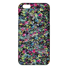 Neon Floral Print Silver Spandex Iphone 6 Plus/6s Plus Tpu Case by Simbadda