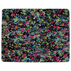 Neon Floral Print Silver Spandex Jigsaw Puzzle Photo Stand (rectangular)