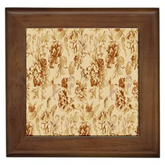 Patterns Flowers Petals Shape Background Framed Tiles by Simbadda