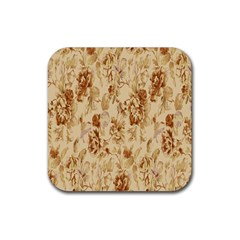 Patterns Flowers Petals Shape Background Rubber Square Coaster (4 Pack)  by Simbadda