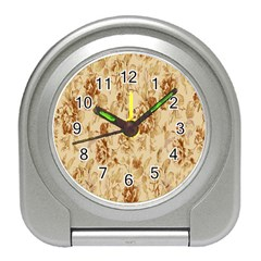 Patterns Flowers Petals Shape Background Travel Alarm Clocks by Simbadda