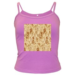 Patterns Flowers Petals Shape Background Dark Spaghetti Tank