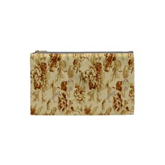 Patterns Flowers Petals Shape Background Cosmetic Bag (small)  by Simbadda