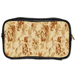 Patterns Flowers Petals Shape Background Toiletries Bags by Simbadda