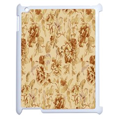 Patterns Flowers Petals Shape Background Apple Ipad 2 Case (white) by Simbadda