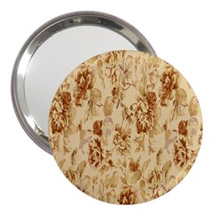 Patterns Flowers Petals Shape Background 3  Handbag Mirrors by Simbadda
