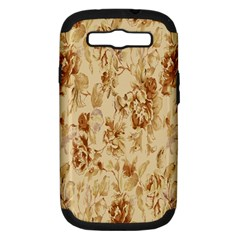Patterns Flowers Petals Shape Background Samsung Galaxy S Iii Hardshell Case (pc+silicone) by Simbadda