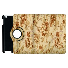 Patterns Flowers Petals Shape Background Apple Ipad 2 Flip 360 Case by Simbadda