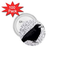 Black Raven  1 75  Buttons (100 Pack)  by Valentinaart
