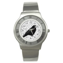 Black Raven  Stainless Steel Watch