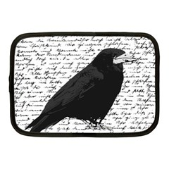 Black Raven  Netbook Case (medium)  by Valentinaart