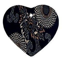 Patterns Dark Shape Surface Ornament (heart) by Simbadda
