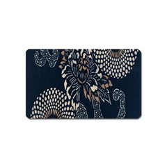 Patterns Dark Shape Surface Magnet (name Card) by Simbadda