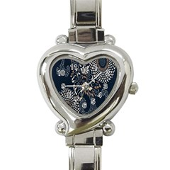 Patterns Dark Shape Surface Heart Italian Charm Watch by Simbadda