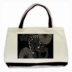 Patterns Dark Shape Surface Basic Tote Bag by Simbadda