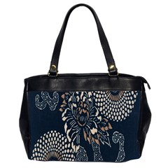 Patterns Dark Shape Surface Office Handbags (2 Sides)  by Simbadda