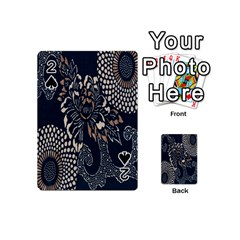 Patterns Dark Shape Surface Playing Cards 54 (mini)  by Simbadda